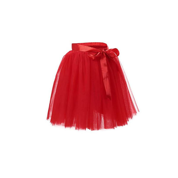 دامن دخترانه مدل ویلاین رنگ قرمز