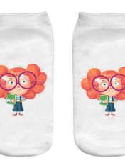 جوراب بچگانه طرح دختر دوردانه کد o28 -  - 1