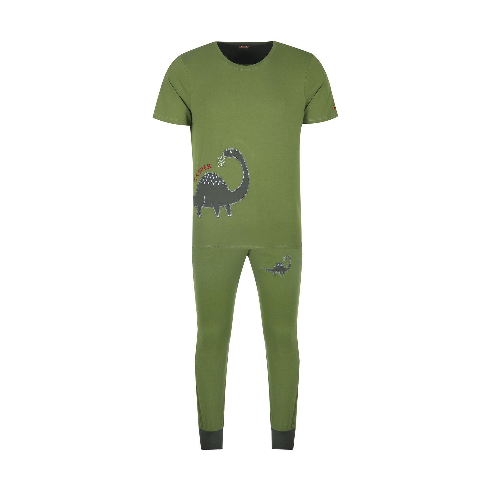 ست تی شرت و شلوارک راحتی مردانه مادر مدل 2041106-42 -  - 2