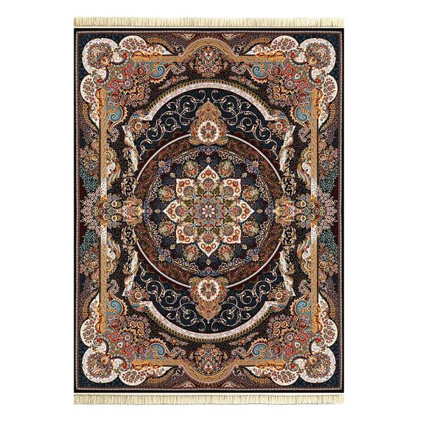 فرش ماشینی داریوش طرح مانا زمینه سرمه ای