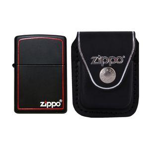 فندک زیپو مدل Black and Red کد 218ZB