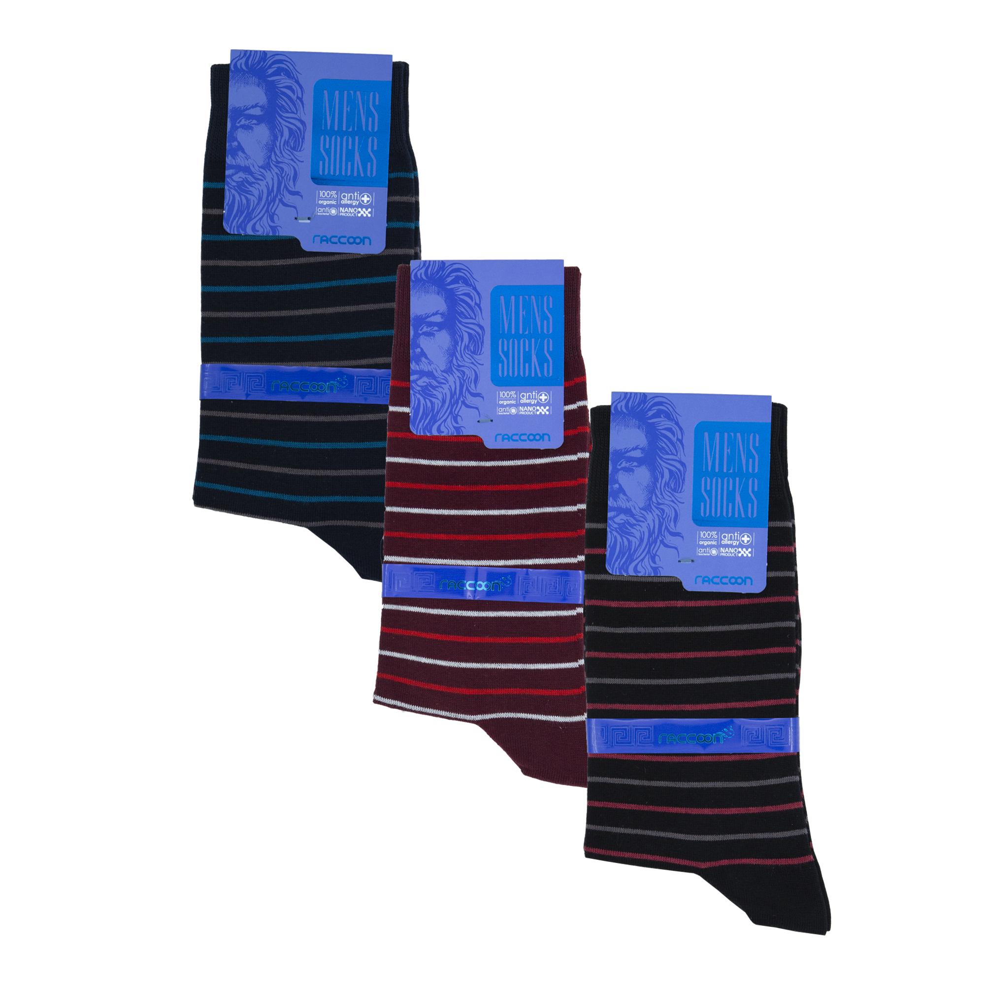 جوراب مردانه راکون مدل 102293 مجموعه 3 عددی