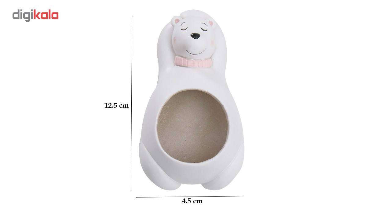 گلدان دکوگل طرح خرس سفید مدل DG027 main 1 2
