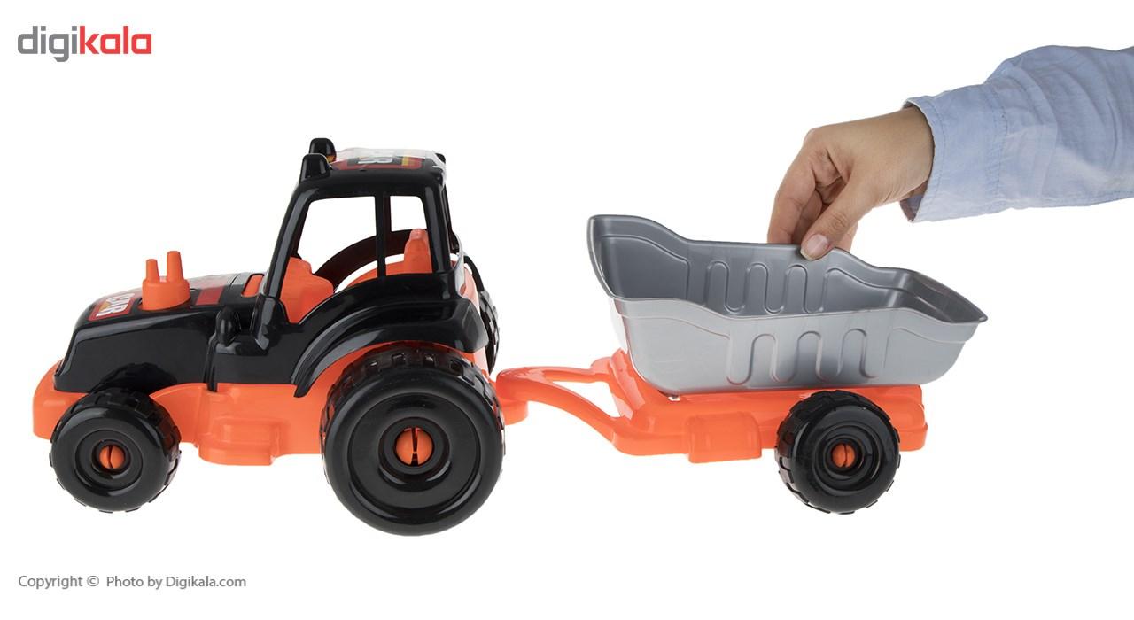 ماشین بازی زرین تویز مدل Tractor H3 main 1 6