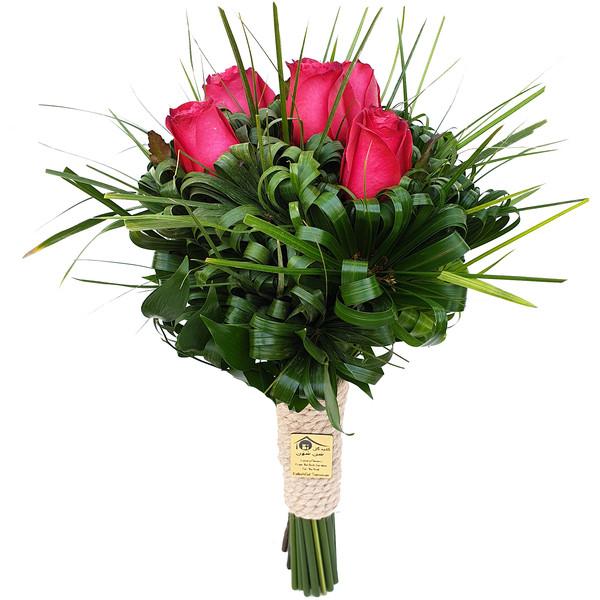 دسته گل رز کلبه گل سن سون مدل DG-11010