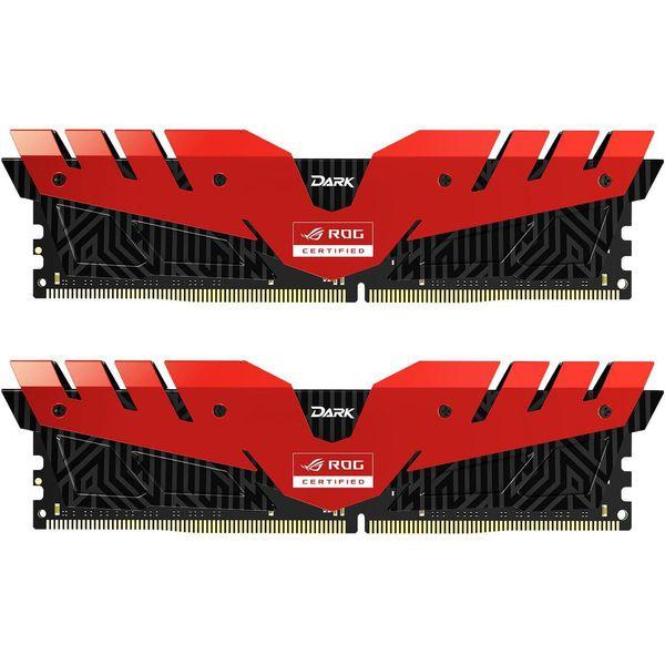 رم دسکتاپ DDR4 دو کاناله 3000 مگاهرتز CL16 تیم گروپ مدل T-Force Dark ظرفیت 16 گیگابایت