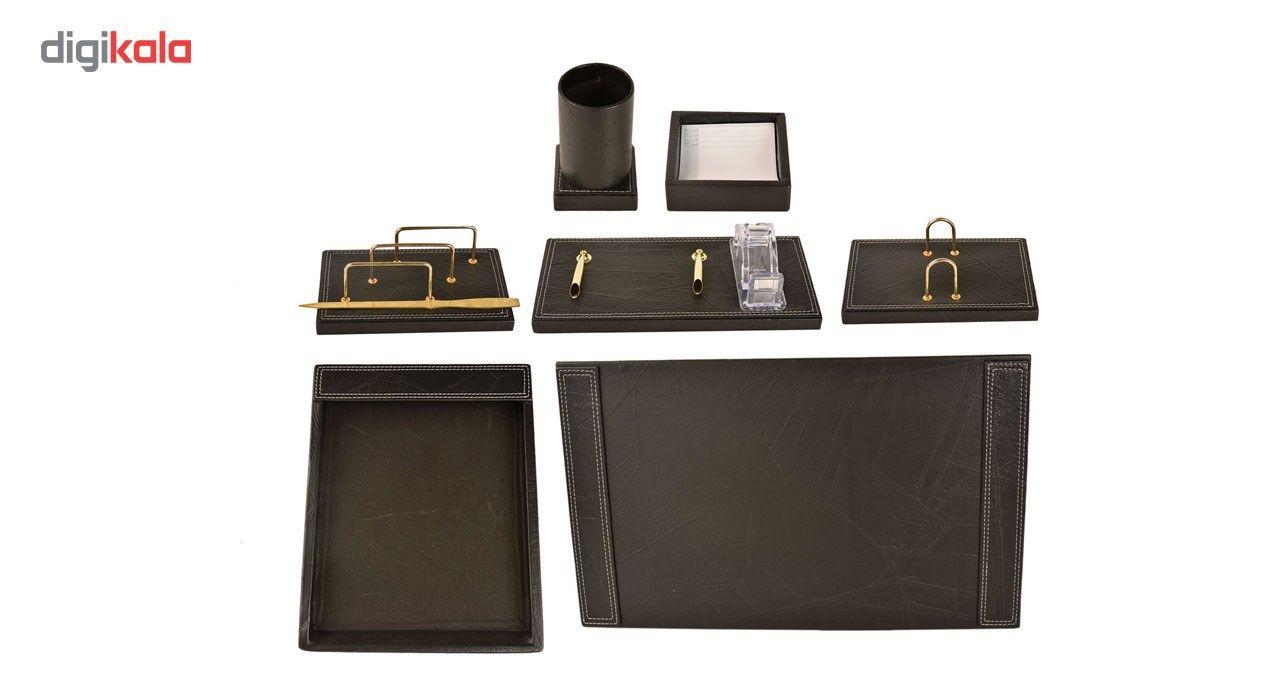 مجموعه لوازم اداری رومیزی 7 تکه پارینه مدل DS1
