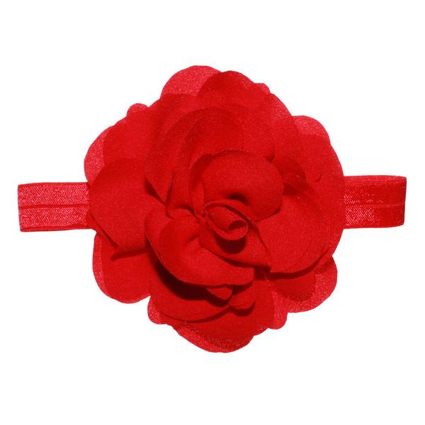 هدبند نوزادی سارینا گل مدل نیکا رنگ قرمز