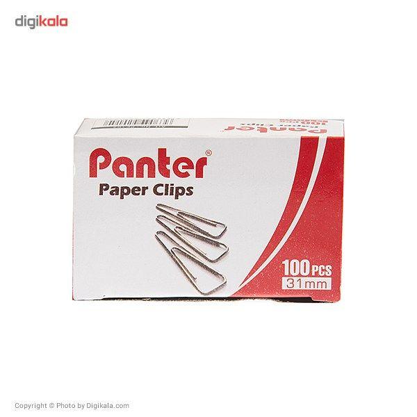 گیره کاغذ پنتر مدل ساده سایز 31 میلی متر - بسته 100 عددی main 1 1