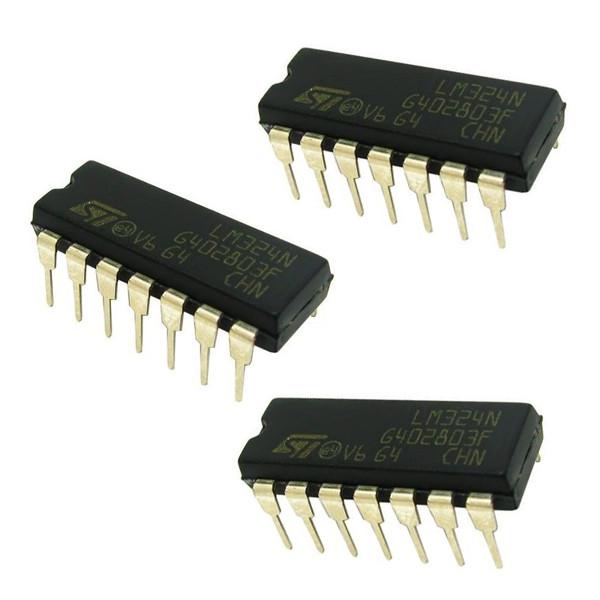 آی سی آپ امپ اس تی مایکروالکترونیکس مدل LM324N بسته 3 عددی