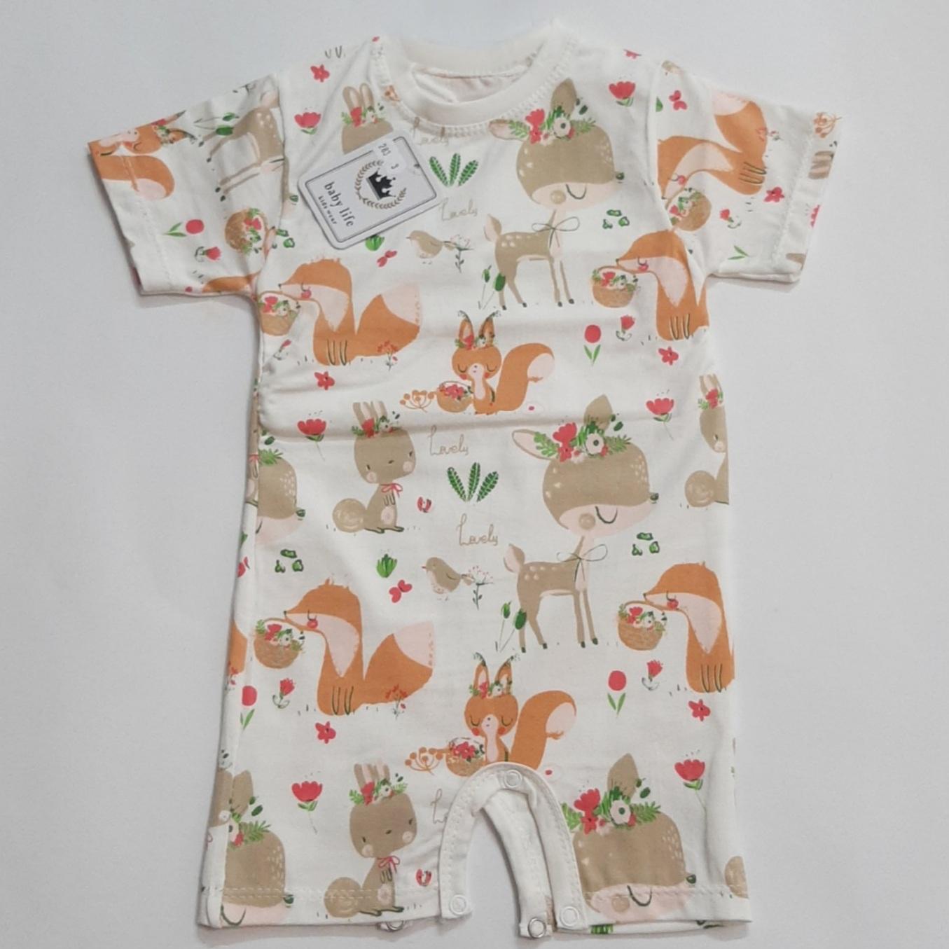 سرهمی نوزادیمدل رامپر طرح روباه و خرگوش