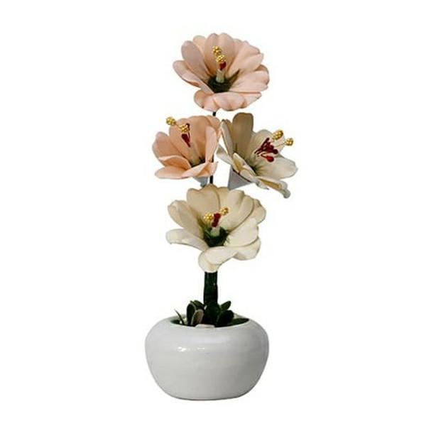گلدان به همراه گل مصنوعی مدل A71