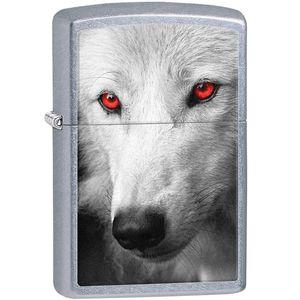 فندک زیپو مدل Wolf With Red Eyes کد 28877