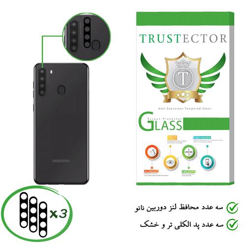 محافظ لنز دوربین نانو تراستکتور مدل TBL مناسب برای گوشی موبایل سامسونگ Galaxy A21 بسته 3 عددی