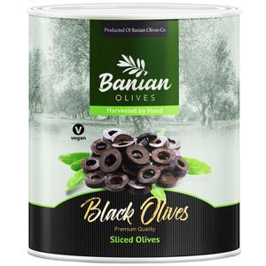 اسلایس زیتون سیاه بانیان - 3 کیلوگرم