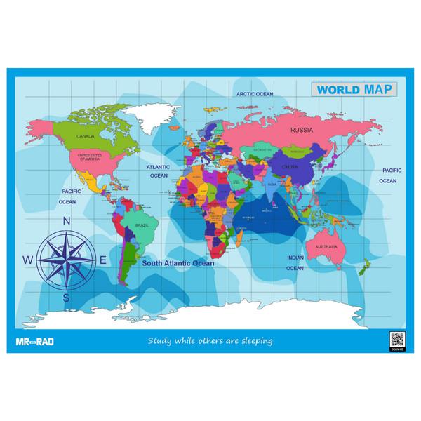 پوستر آموزشی مستر راد طرح نقشه جهان مدل map10070