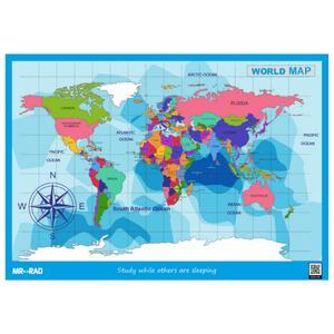 پوستر آموزشی مستر راد طرح نقشه جهان مدل M7050