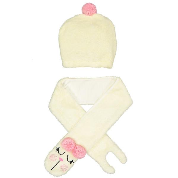 ست کلاه و شال گردن کودک دینو مدل 16S1-039