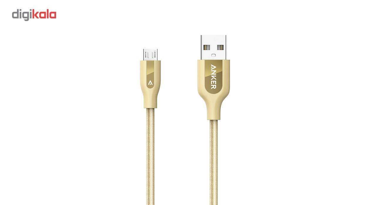 کابل تبدیل USB به MicroUSB انکر مدل A8142 PowerLine Plus به طول 0.9 متر main 1 1