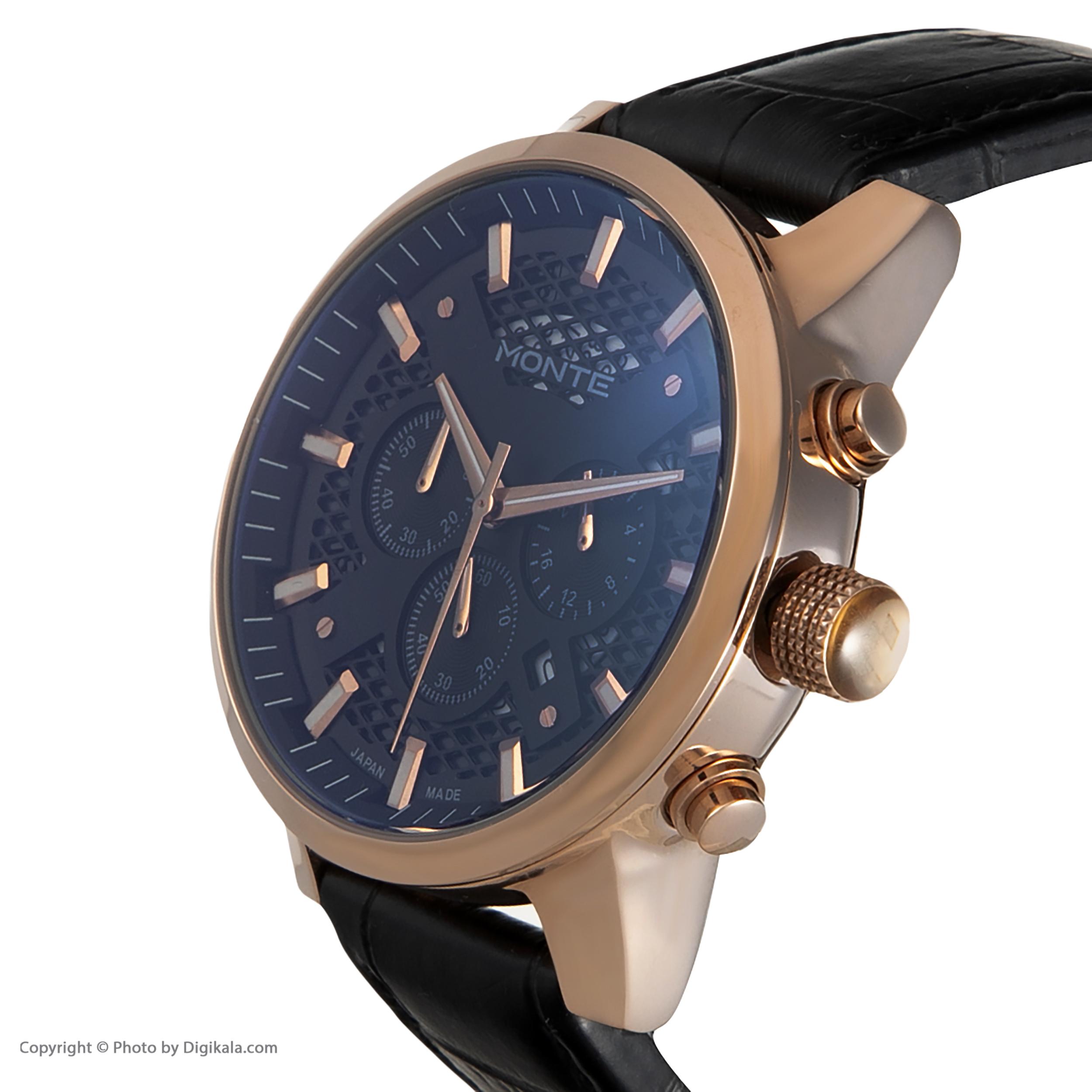 ساعت مچی  مردانه مونته مدل M751340-BLRGL              اصل