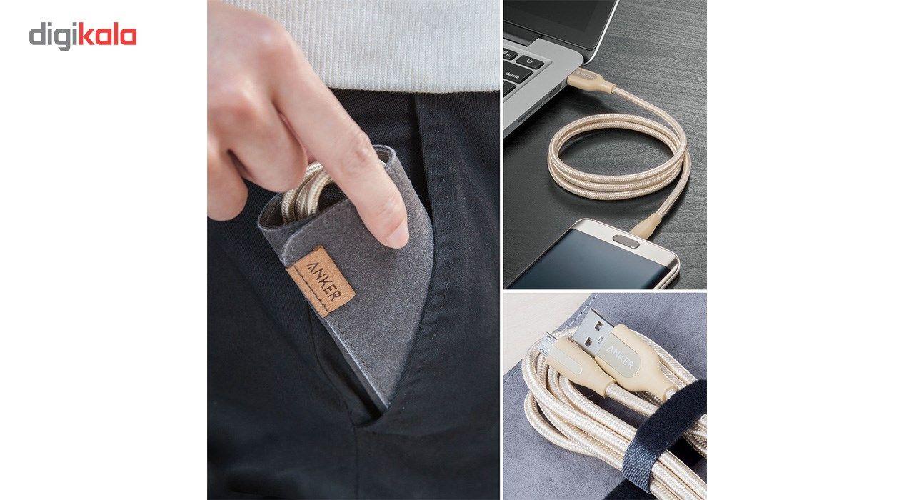 کابل تبدیل USB به MicroUSB انکر مدل A8142 PowerLine Plus به طول 0.9 متر main 1 5