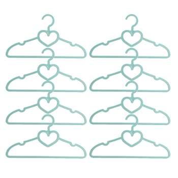 چوب لباسی مهروز مدل قلب - بسته 8 عددی