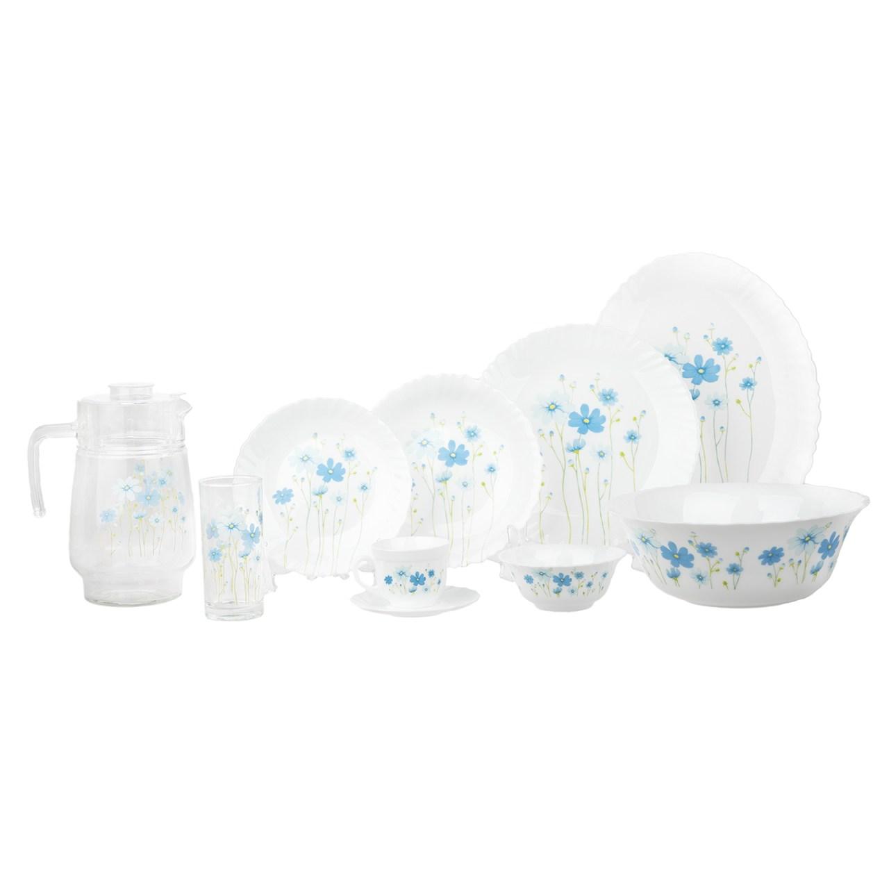 سرویس غذاخوری 38 پارچه لومینارک مدل Country Flowers به همراه ست 7 پارچه پارچ و لیوان