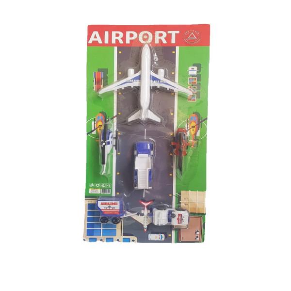 هواپیما بازی مدل فرودگاه مجموعه 6 عددی