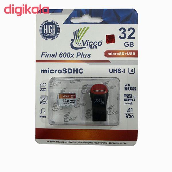 کارت حافظه microSDHC ویکومن مدل Final 600X Plus کلاس 10 استاندارد UHS-I U3 سرعت 90MBps ظرفیت 32 گیگابایت main 1 1