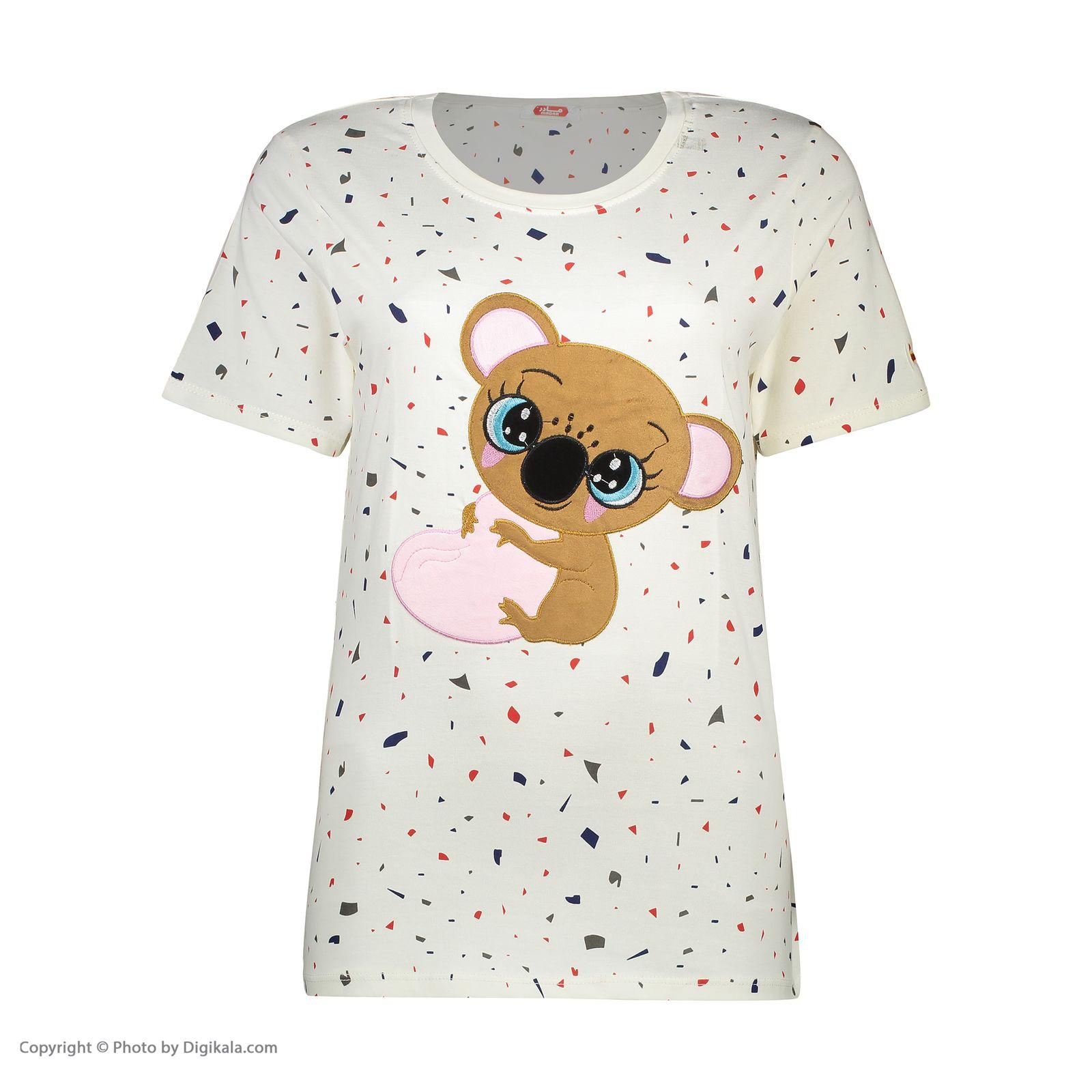 ست تی شرت و شلوارک راحتی زنانه مادر مدل 2041103-84 -  - 4