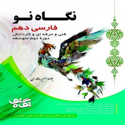 کتاب نگاه نو فارسی دهم فنی و حرفه ایی اثر جواد امیر سالاری انتشارات نگاه نو