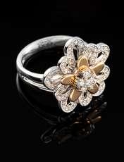 انگشتر طلا 18 عیار جواهری سون مدل 1707 -  - 1