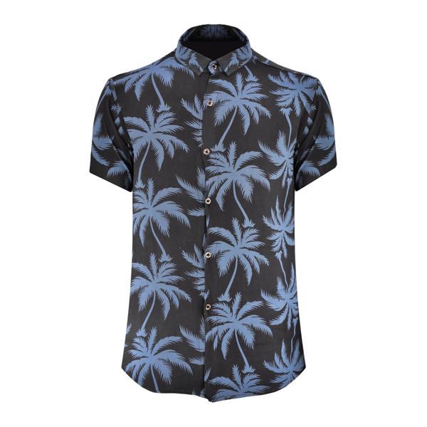 پیراهن مردانه مدل هاوایی نخل کد N-AB