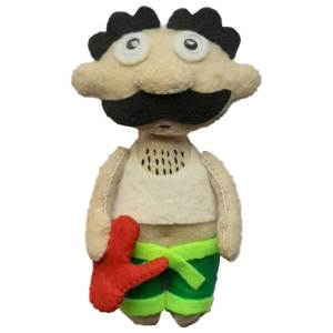 آویز نمدی مدل مرد دست پاچه