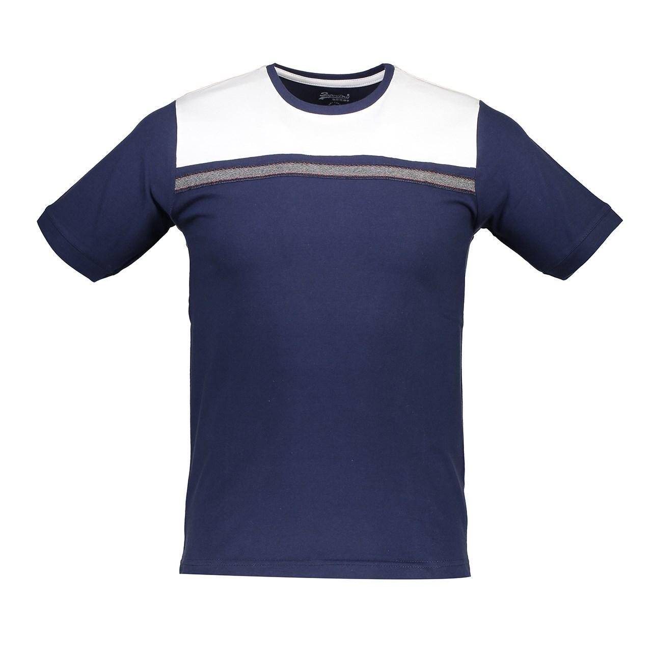 تی شرت آستین کوتاه مردانه آترین مدل BlueWhite