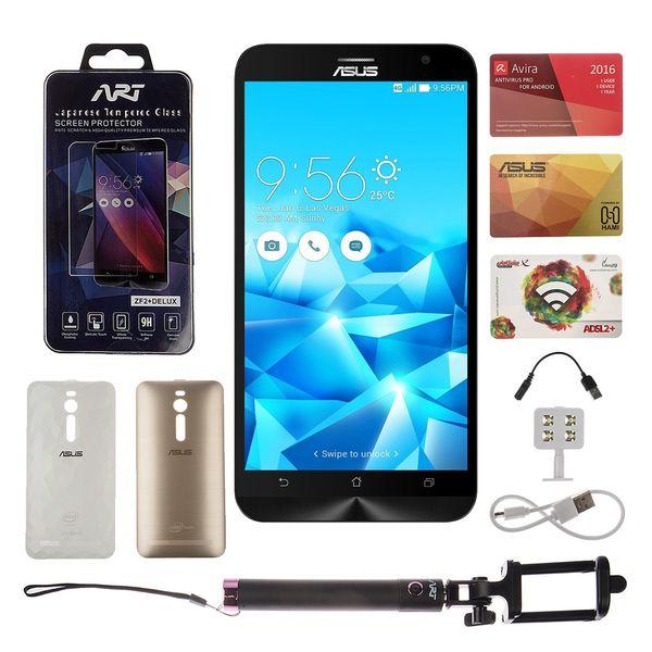 گوشی موبایل ایسوس مدل ASUS Zenfone 2 Plus Deluxe دو سیمکارت ظرفیت ۶۴ گیگابایت | Asus Zenfone 2 Plus Deluxe Dual SIM 64GB