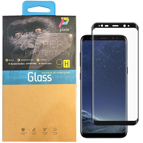 محافظ صفحه نمایش  تمام چسب شیشه ای پیکسی مدل 3D  مناسب برای گوشی سامسونگ S8 Plus