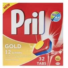 قرص ماشین ظرفشویی پریل  مدل Gold بسته 32 عددی