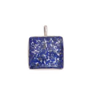 آویز گردنبند نقره طهران گوهر مدل Blue2