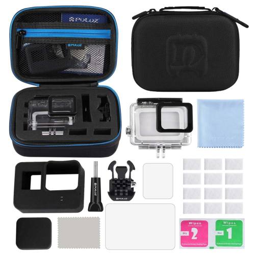 کیف لوازم جانبی پلوز مدل 12 تکه مناسب برای دوربین های ورزشی گوپرو