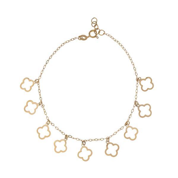 دستبند طلا 18 عیار زنانه میو گلد مدل GD1018