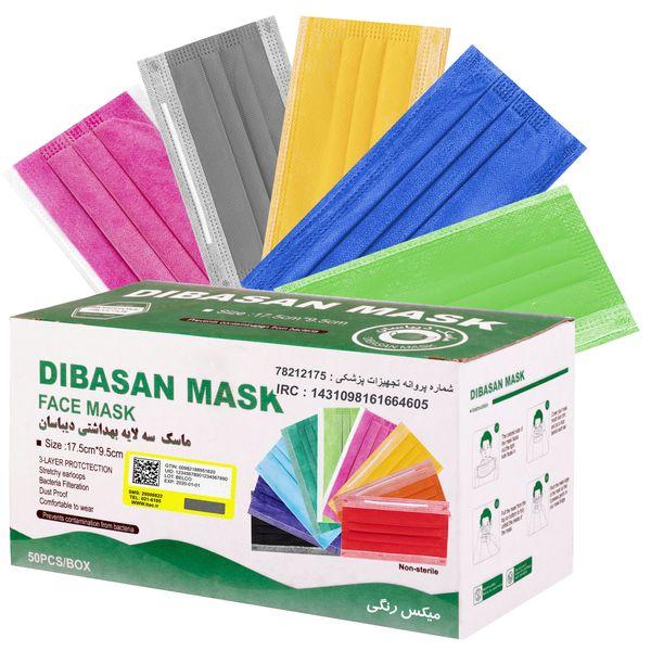 ماسک تنفسی مدل ماسک تنفسی دیباسان مدل melt بسته 50 عددی