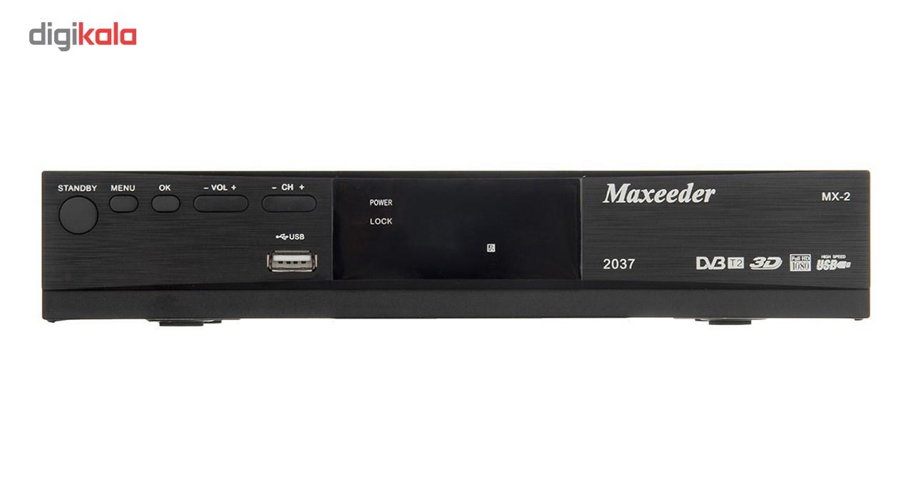 گیرنده دیجیتال مکسیدر مدل MX-2 2037 به همراه ریموت کنترل چند کاره