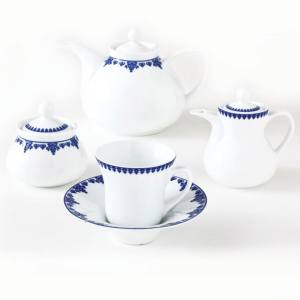 سرویس چای خوری 18 پارچه چینی زرین ایران سری شهرزاد مدل Samarghand درجه یک