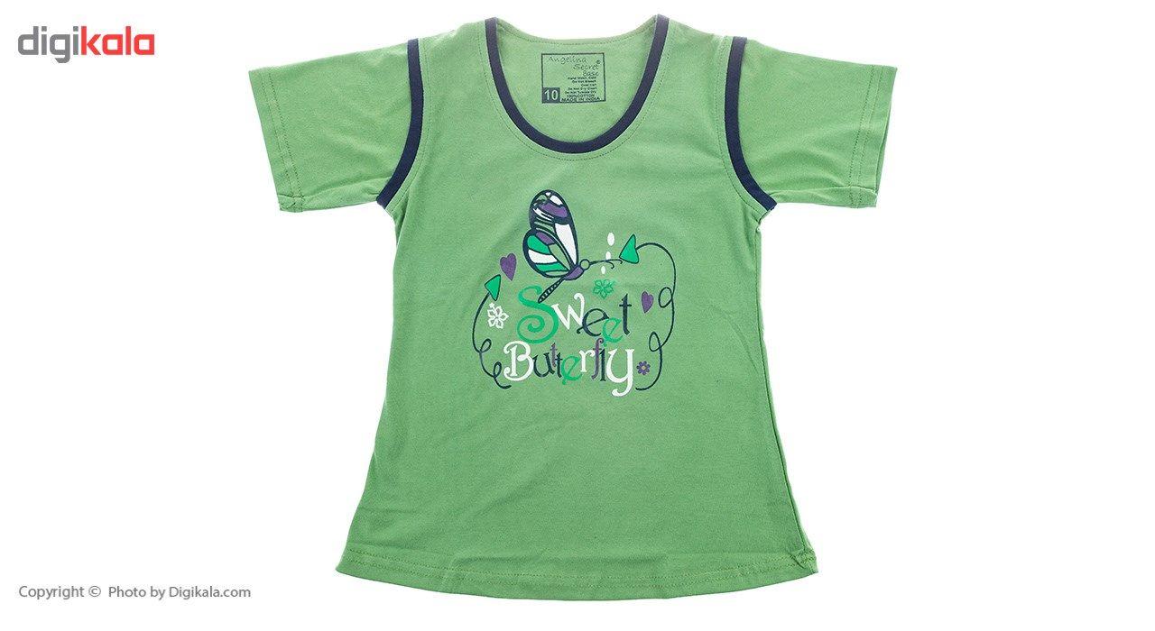 تی شرت و شلوار دخترانه آنجلینا مدل 5166B -  - 3