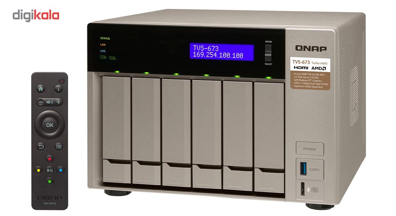 ذخیره ساز تحت شبکه کیونپ مدل TVS-673-8G بدون دیسک