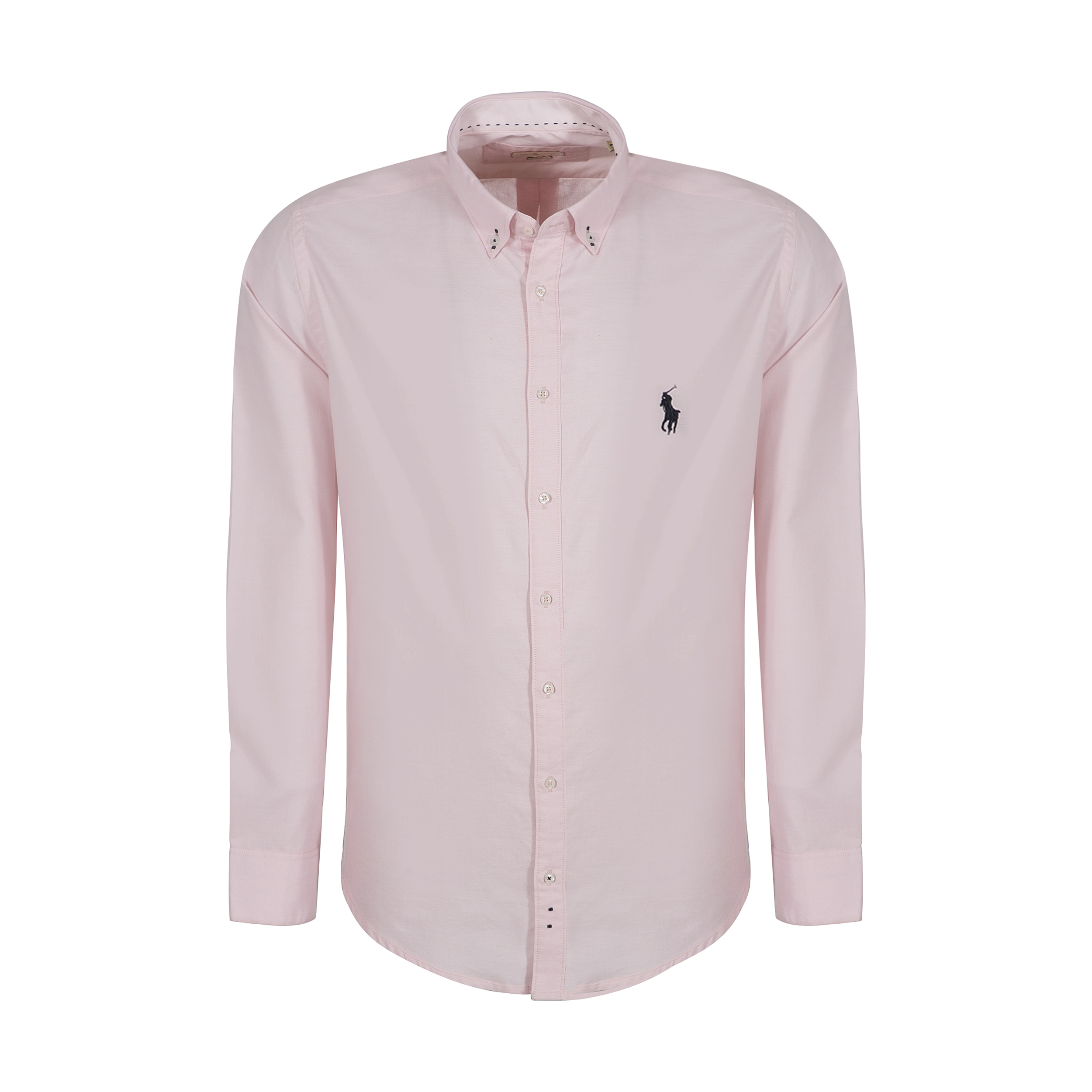 پیراهن مردانه پولو مدل LS01 رنگ صورتی