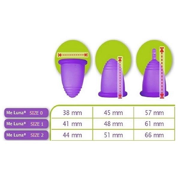 کاپ قاعدگی ملونا مدل کلاسیک ساقه ای سایز 1 و 2 مجموعه 2 عددی