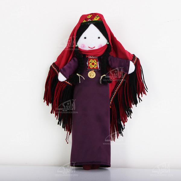 عروسک پارچه ای دست دوز  رنگ بنفش طرح دویدوق مدل 1606800013
