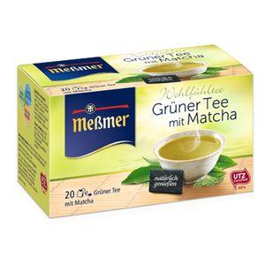 بسته دمنوش گیاهی چای سبز ماچا مسمر مدل Gruner Tee Mit Matcha